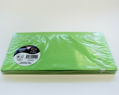 Envelope, Removable Strip Intensive Green, 20 Pack
