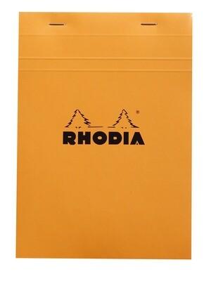 Notepad, Rhodia, Grid Orange, A5, Top Staple