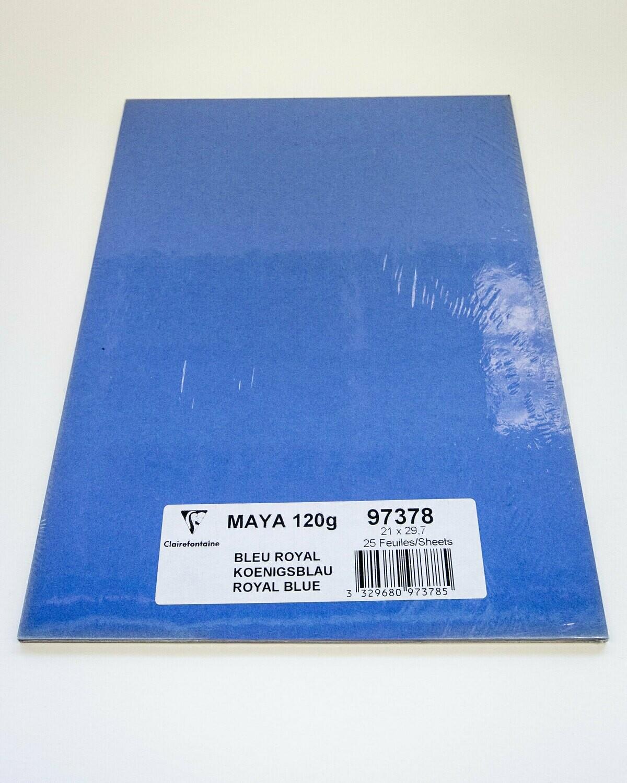 Cardstock, Maya, 54Lb Royal Blue, A4, 25 Pack