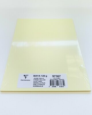 Cardstock, Maya, 54Lb Straw Yellow, A4, 25 Pack