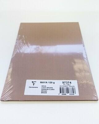 Cardstock, Maya, 54Lb Light Brown, A4, 25 Pack
