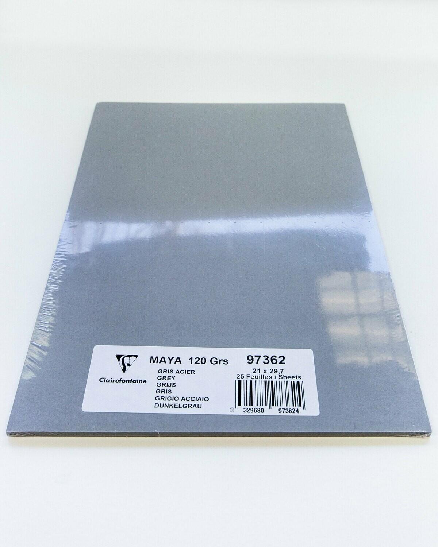 Cardstock, Maya, 54Lb Grey, A4, 25 Pack