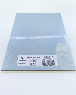 Cardstock, Maya, 54Lb Silver, A4, 25 Pack