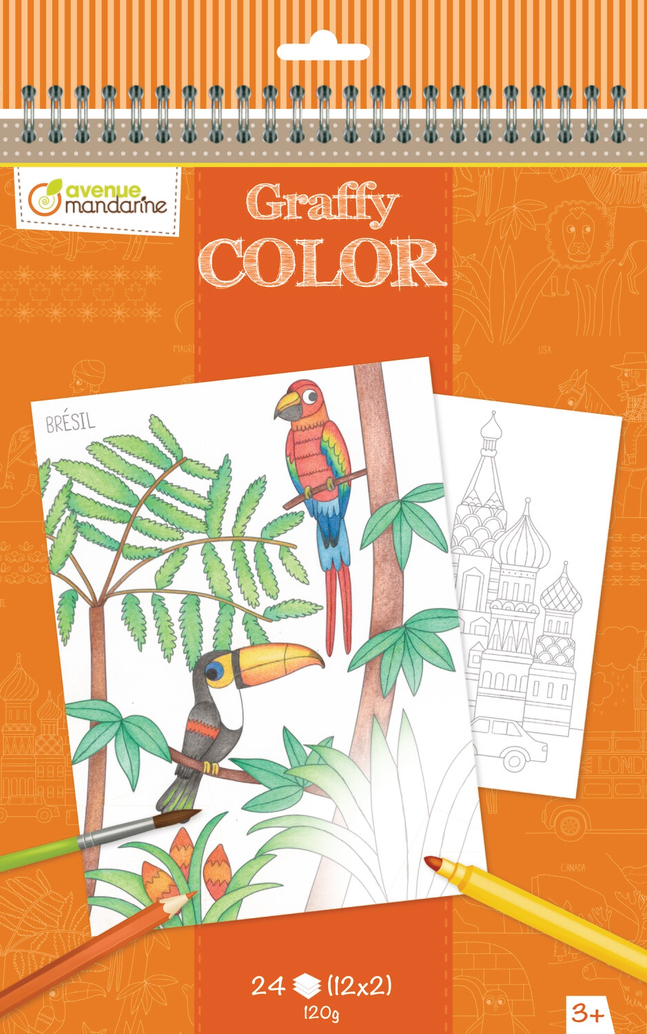 Colouring Book Trips, A4, 24 Page