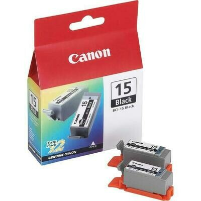 Canon Bci-15 Black Twin Pack