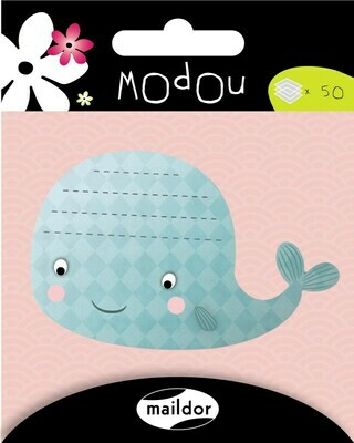 Adhesive Notepad Whale