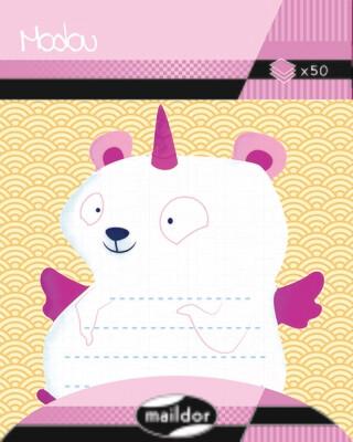 Adhesive Note Pad Unicorn Bear