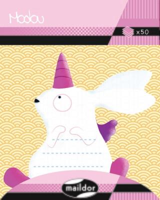 Adhesive Notepad Unicorn Rabbit