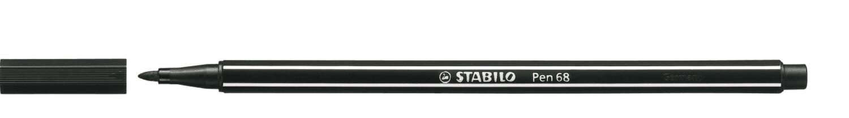 Pen, 68, Bullet Tip Black, 1 Mm, Single