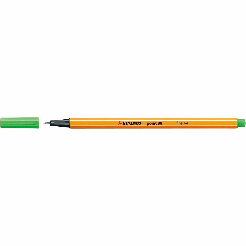 Pen, Fineliner, Point 88  Light Green, 0.4 Mm, Single