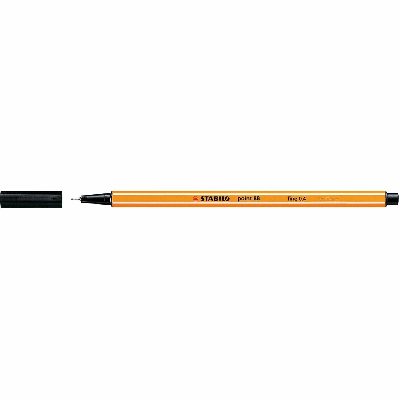 Pen, Fineliner, Point 88 Black, 0.4 Mm, Single