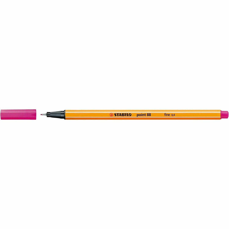 Pen, Fineliner, Point 88  Pink, 0.4 Mm, Single