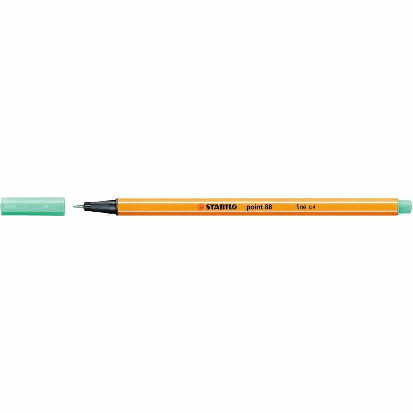 Pen, Fineliner, Point 88 Ice Green, 0.4 Mm, Single