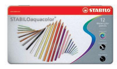 Pencil, Watercolour, Aquacolor Assorted, 12 Pack