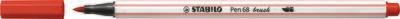 Pen, 68 Brush Carmine, Single