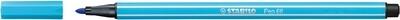 Pen, 68, Bullet Tip Azure Blue, 1 Mm, Single