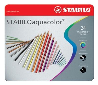 Pencil, Watercolour, Aquacolor Assorted 24 Pack