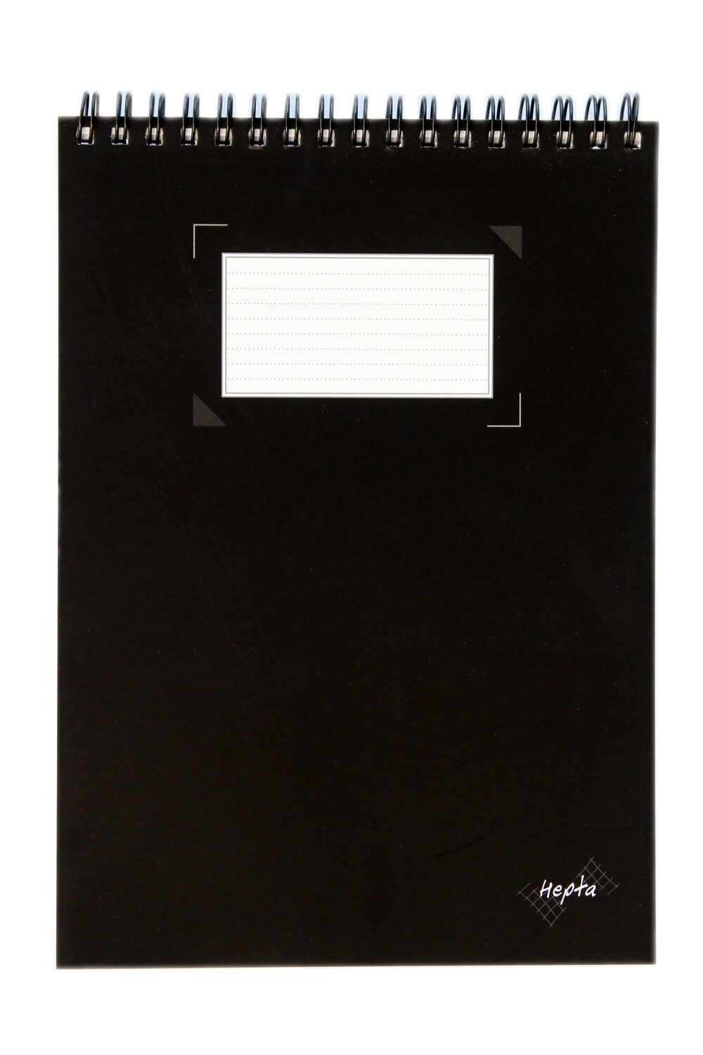 """Notebook, Hepta Wire-O Top Black, 6"""" x 8.25"""""""