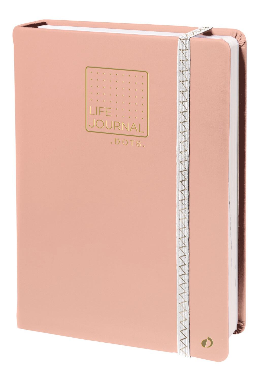 """Notebook, Dots Life Journal Light Pink, 6"""" x 8.25"""""""