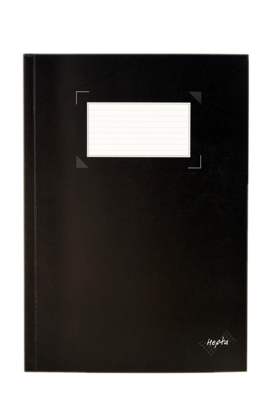 "Notebook, Hepta Exercise Black, 6"" x 8.25"""