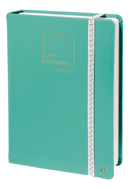 """Notebook, Dots Life Journal Light Green, 6"""" x 8.25"""""""