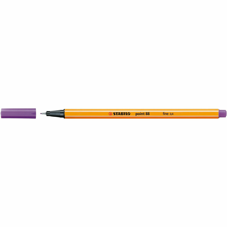Pen, Fineliner, Point 88  Purple, 0.4 Mm, Single