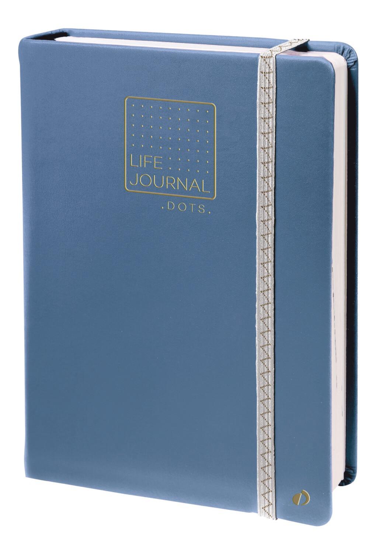 """Notebook, Dots Life Journal Grey Blue, 6"""" x 8.25"""""""