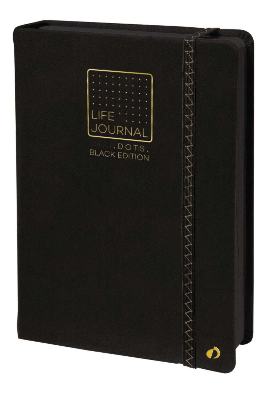 "Notebook, Dots Life Journal Black Paper, 6"" x 8.25"""