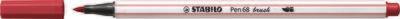Pen, 68 Brush  Dark Red, Single