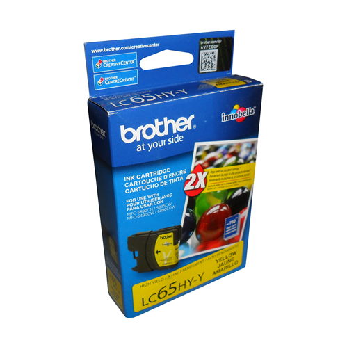 Brother Ink Lc65Y Yellow High Yield