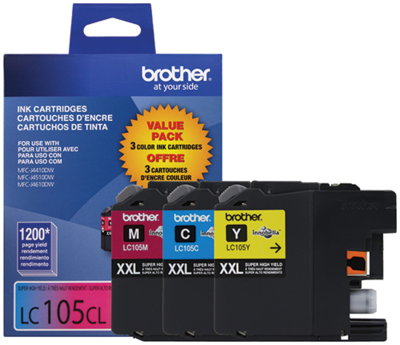 Brother Ink Lc105 Xxl Clear 3 Pack
