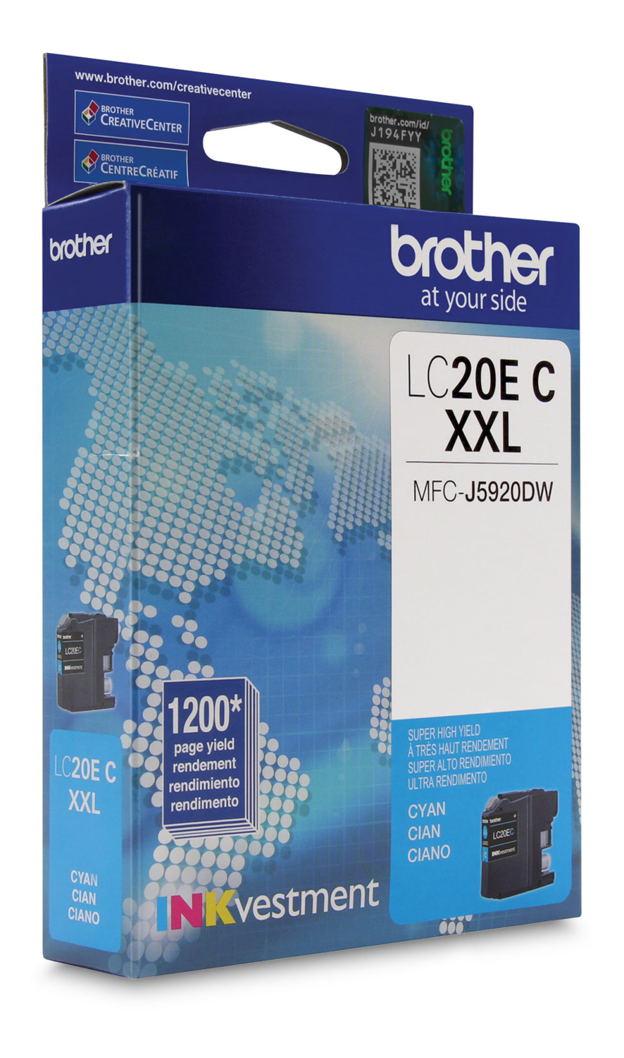 Brother Ink Lc20Ecs Cyan