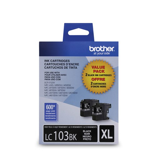 Brother Ink Lc103 Black 2 Pack