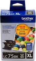 Brother Ink Lc75Bk Black 2 Pack