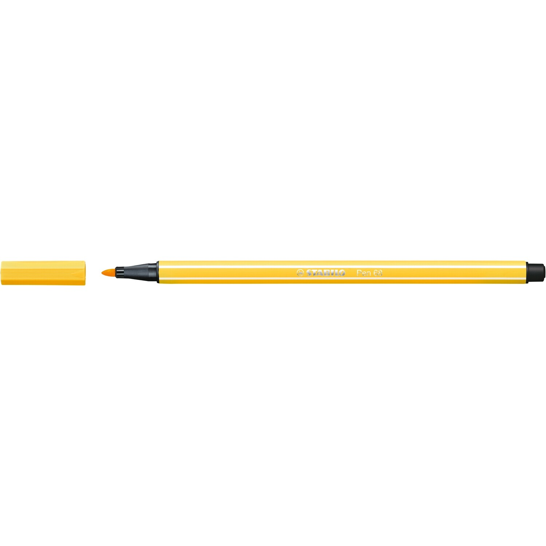 Pen, 68, Bullet Tip Yellow, 1 Mm, Single