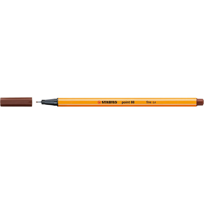 Pen, Fineliner, Point 88 Brown, 0.4 Mm, Single