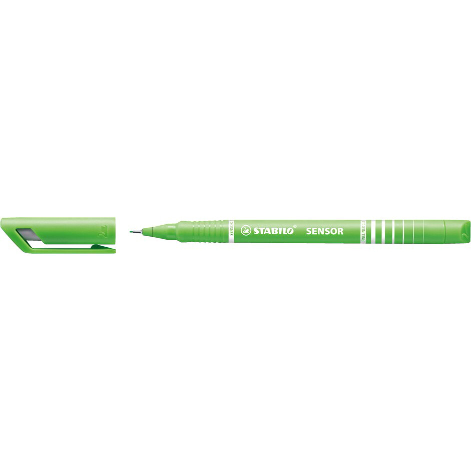Pen, Fineliner, Sensor Light Green, 0.3 Mm, Single