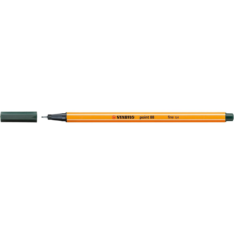 Pen, Fineliner, Point 88 Olive Green, 0.4 Mm, Single