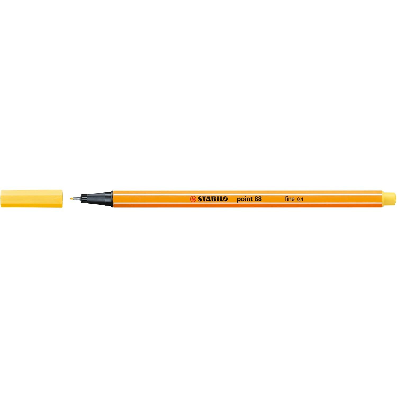 Pen, Fineliner, Point 88 Yellow, 0.4 Mm, Single