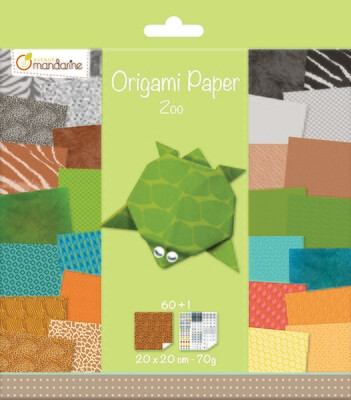 Origami Paper Zoo Colours, 20 x 20cm, 60 Page