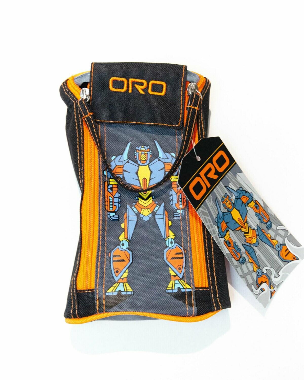 Pencil Case, Robot Black, Dual Zipper