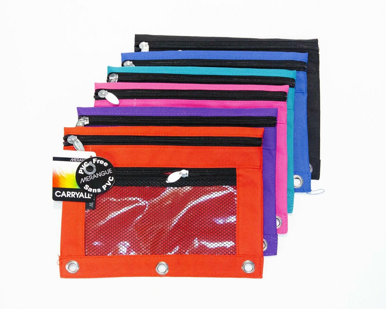 Pencil Case, Mesh Assorted Colour, Binder Pouch