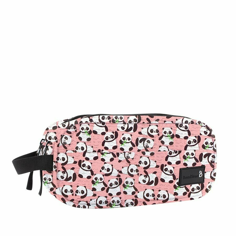 Pencil Case, Panda Pink, Dual Pockets