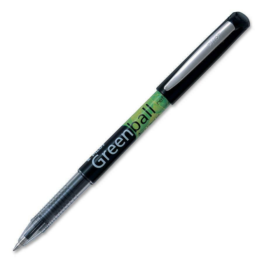 Pen, Rollerball, BeGreen Greenball Black, Single, 0.7 Mm, Refillable