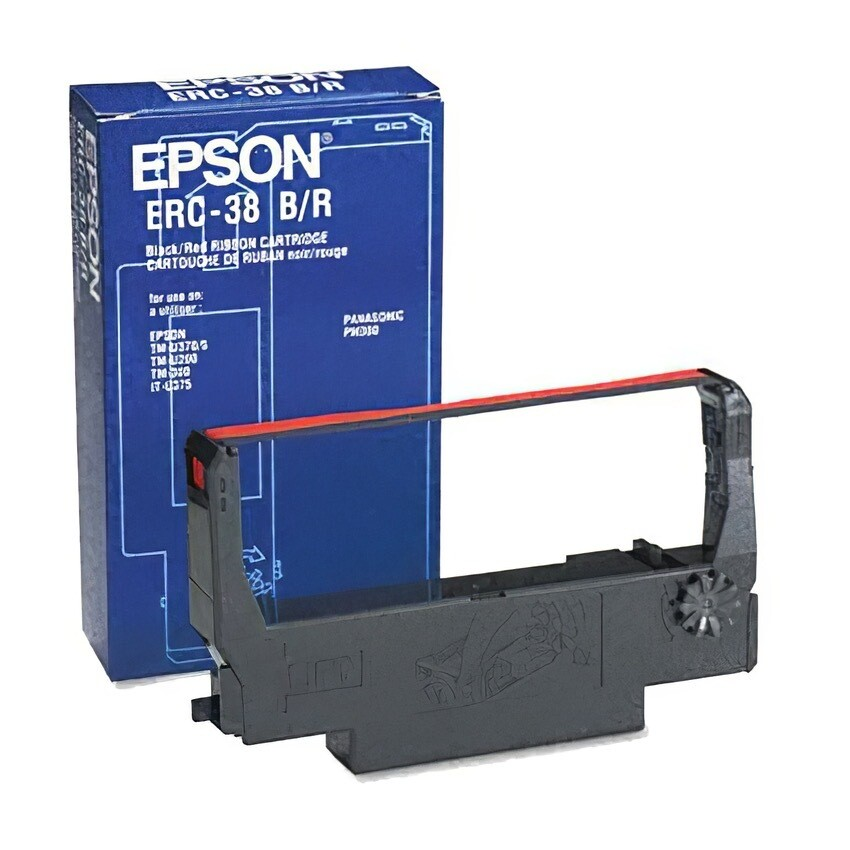 Epson Compat Ribbon Erc30/34/38 Black/Red