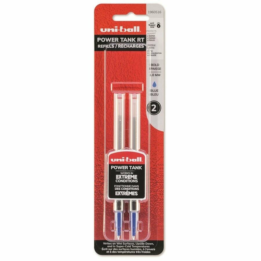 Refill, Pen, Ballpoint, Uni-ball Powertank Blue, 2 Pack, 1 Mm
