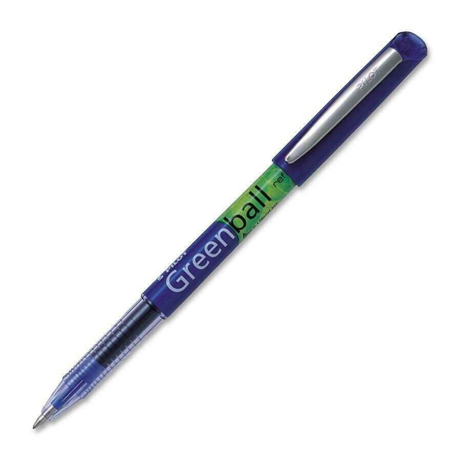 Pen, Rollerball, BeGreen Greenball Blue, Single, 0.7 Mm, Refillable