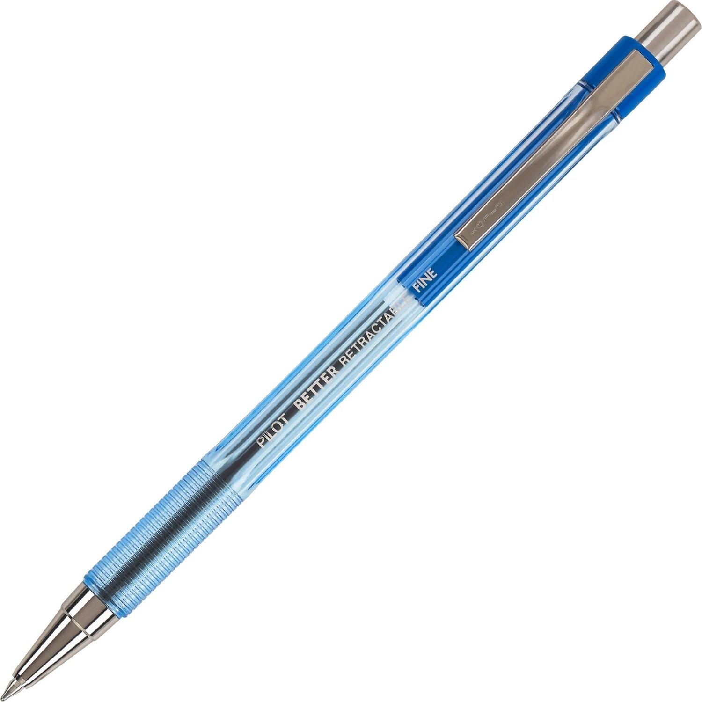 Pen, Ballpoint, Retractable, Better Blue, Box of 12, 0.7 Mm