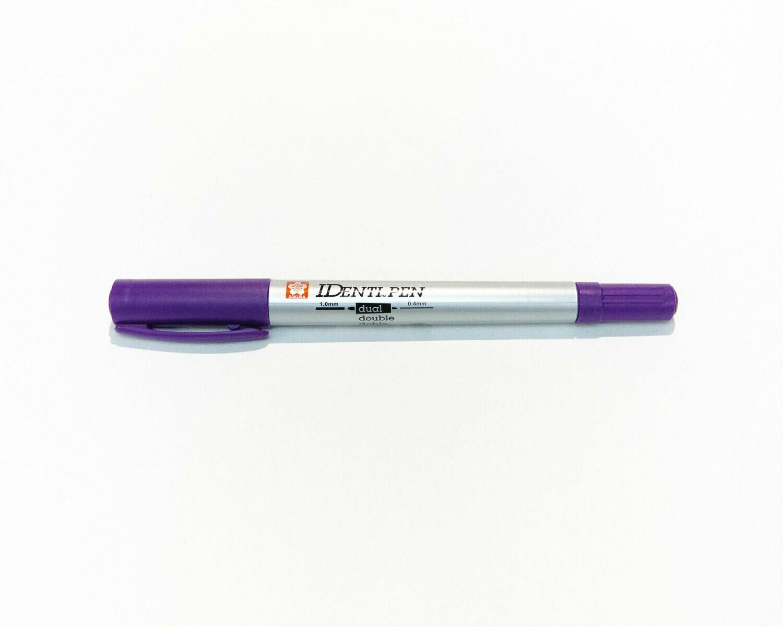 Pen, Most Surfaces, IDenti-Pen Purple, Dual Tip, Single