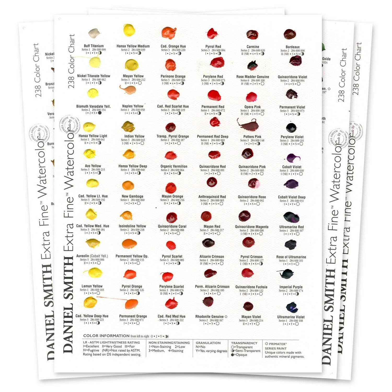 Paint Dot Card, 238 Extra Fine Colours Daniel Smith Watercolour
